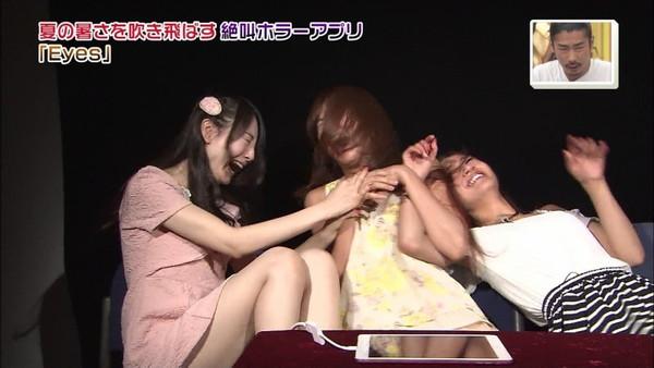 【放送事故画像】女子アナやアイドルの太ももってテレビで見られるだけあってエロいよなww 14