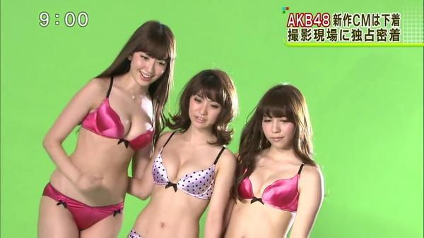【放送事故画像】ドラマやCMなどに下着姿を晒された女達!! 14