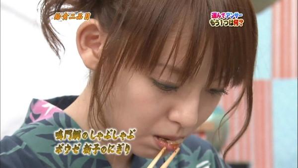 【擬似フェラ画像】テレビでこれ見よがしにエロい食べ方で男を誘惑する女達www 09