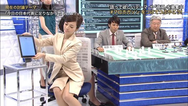 【放送事故画像】パンストの脚もいいけど、俺はやっぱり生足が好きww 11