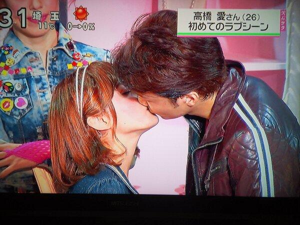 【放送事故画像】セックスする合図はやっぱりキス?ドラマなどで映ったキスシーンww 02