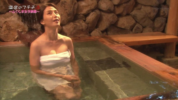 【放送事故画像】温泉レポ―としてる女のバスタオル取れたらいいのにっていつも思ってしまうよなww 19