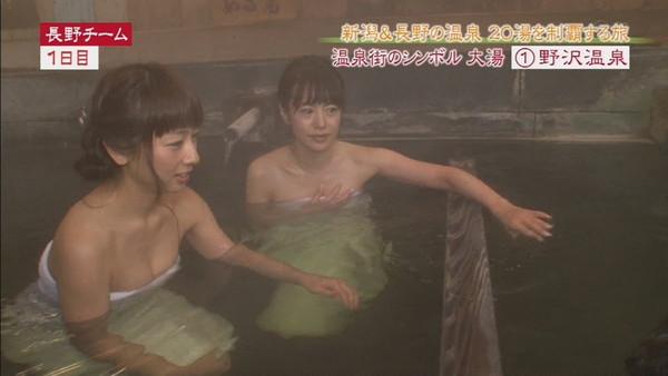 【放送事故画像】温泉レポ―としてる女のバスタオル取れたらいいのにっていつも思ってしまうよなww 24