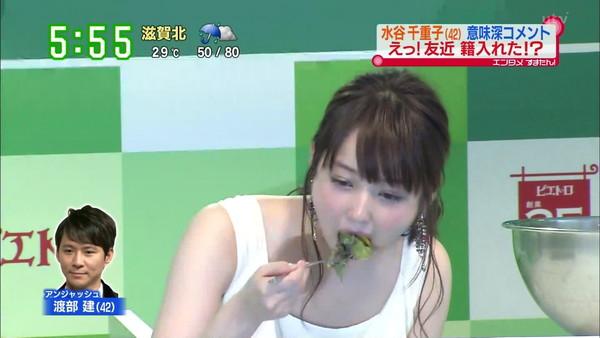 【疑似フェラ画像】食べ方で分かる!フェラが好きそうな女達のTVキャプ画像ww
