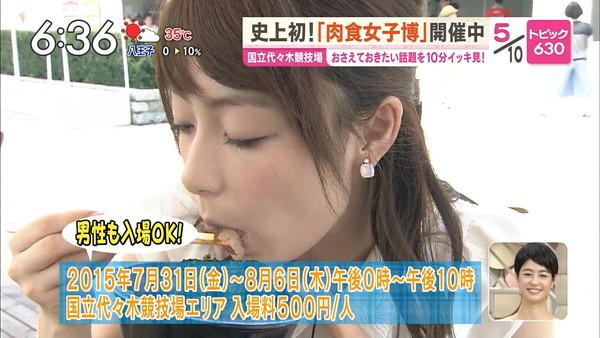 【疑似フェラ画像】食べ方で分かる!フェラが好きそうな女達のTVキャプ画像ww 02