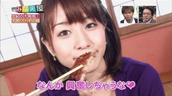 【疑似フェラ画像】食べ方で分かる!フェラが好きそうな女達のTVキャプ画像ww 05