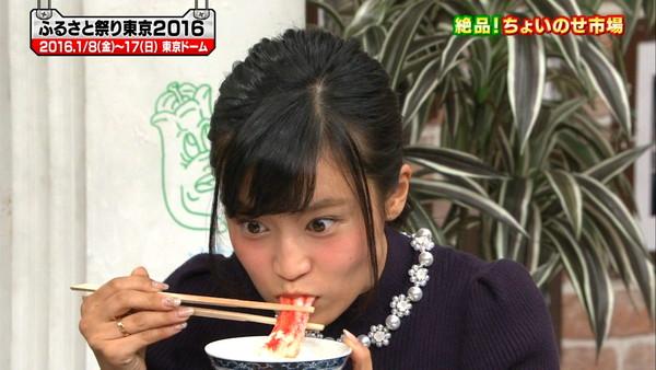 【疑似フェラ画像】食べ方で分かる!フェラが好きそうな女達のTVキャプ画像ww 16