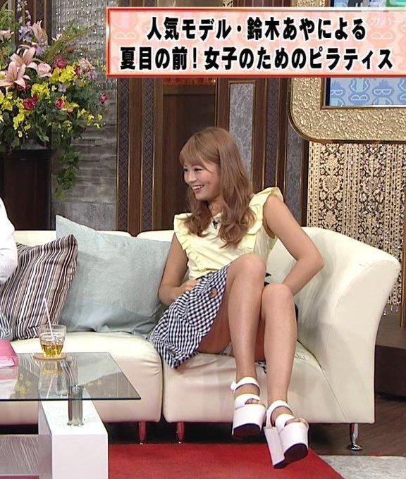 【放送事故画像】テレビでパンツ見えてようが別に平気な女達www 18