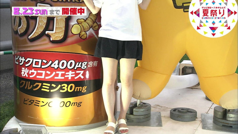 【放送事故画像】全体的に見たら綺麗な足だけど太ももだけ見たらエロくない?ww 22