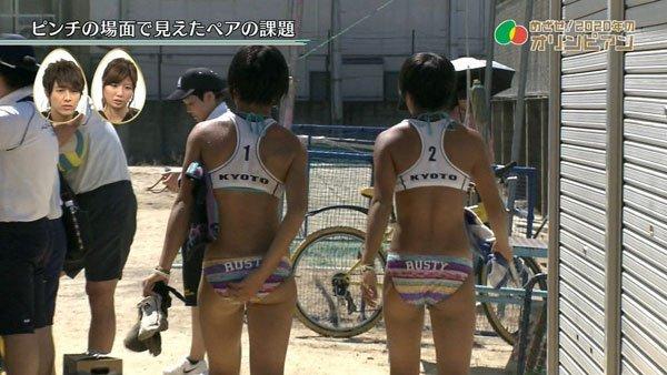【放送事故画像】テレビでお尻突きだしちゃって形も大きさも丸わかりな女達www 14