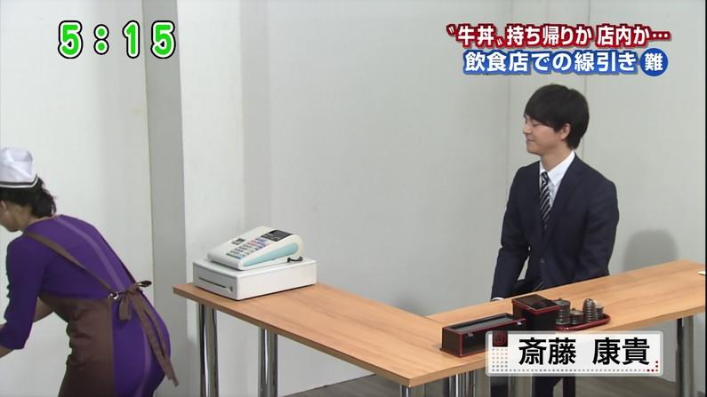 【放送事故画像】テレビでお尻突きだしちゃって形も大きさも丸わかりな女達www 17