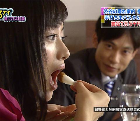 【擬似フェラ画像】テレビでただ食べてるだけでエロく見えてしまうのは俺の問題? 04