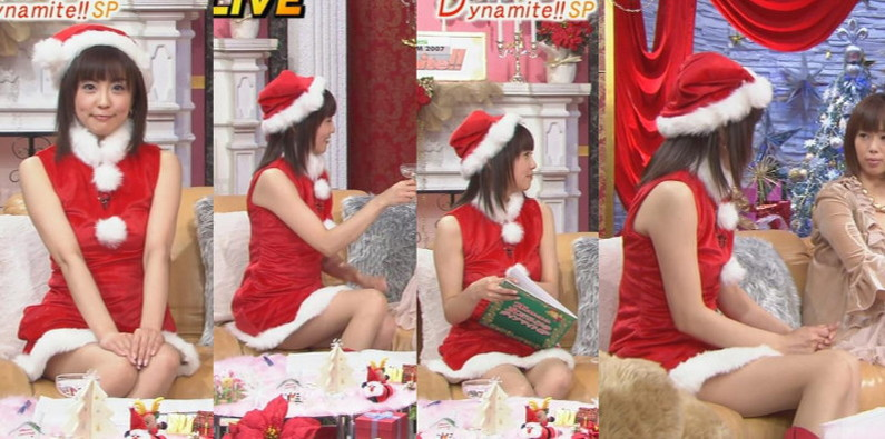 【放送事故画像】プレゼントは、わ、た、し♡女子アナやアイドル達のサンタコス画像www 24