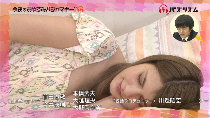 【放送事故画像】女の子のパジャマ姿や寝顔が可愛くて、思わず夜這いかけたくなるwww 14