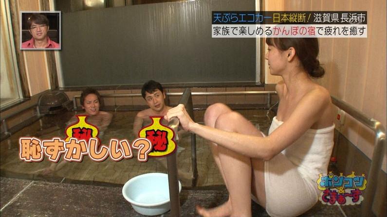 【放送事故画像】バスタオル一枚と言う超無防備な状態でテレビに映る女子アナやアイドル達ww 22
