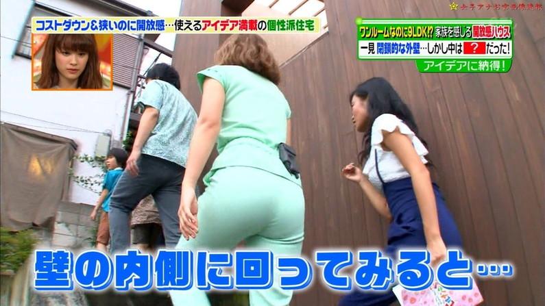 【放送事故画像】ピッチリしたズボン履いてお尻の形が丸分かりww 21