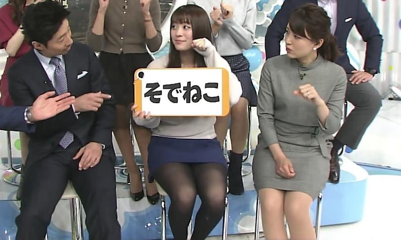 【放送事故パンチラ画像】そんな短いスカート履いてたらほらぁ・・・www 19