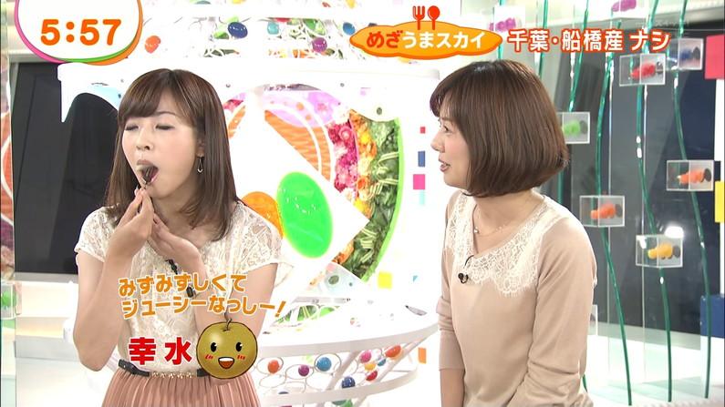 【放送事故画像】エロい食べ方してフェラの練習!そんなフェラ顔を放送中www