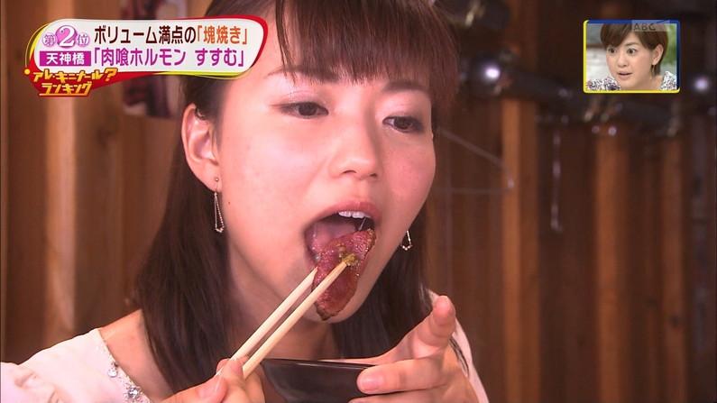 【放送事故画像】エロい食べ方してフェラの練習!そんなフェラ顔を放送中www 11