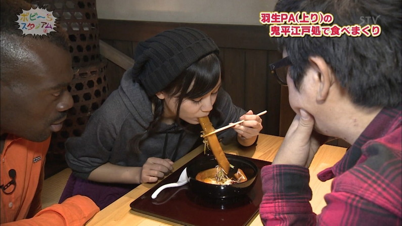 【放送事故画像】エロい食べ方してフェラの練習!そんなフェラ顔を放送中www 15