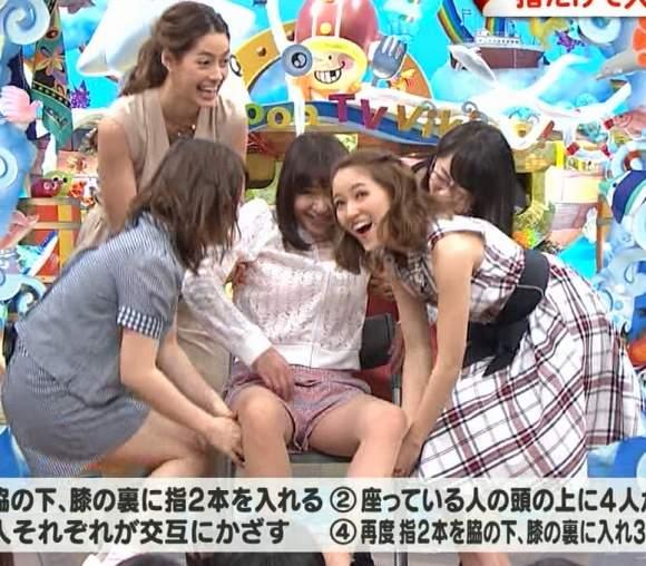 【放送事故画像】ムッチムチのエロい太もも露出してテレビに出てる女達がエロすぎww 11