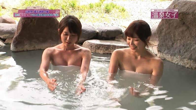 【放送事故画像】バスタオルの巻き方が余計エロく見えちゃう女子アナやアイドルの入浴シーンww 03