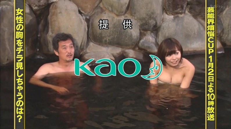 【放送事故画像】バスタオルの巻き方が余計エロく見えちゃう女子アナやアイドルの入浴シーンww 07