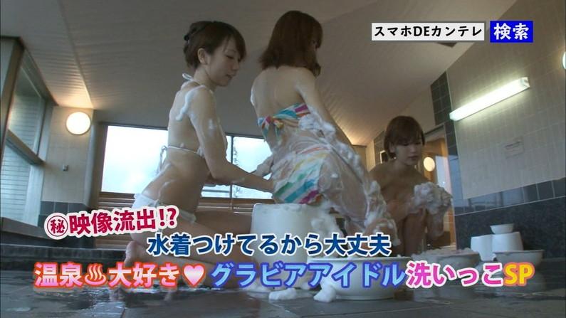 【放送事故画像】バスタオルの巻き方が余計エロく見えちゃう女子アナやアイドルの入浴シーンww 10