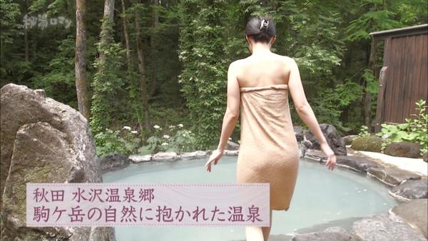 【放送事故画像】バスタオルの巻き方が余計エロく見えちゃう女子アナやアイドルの入浴シーンww 23