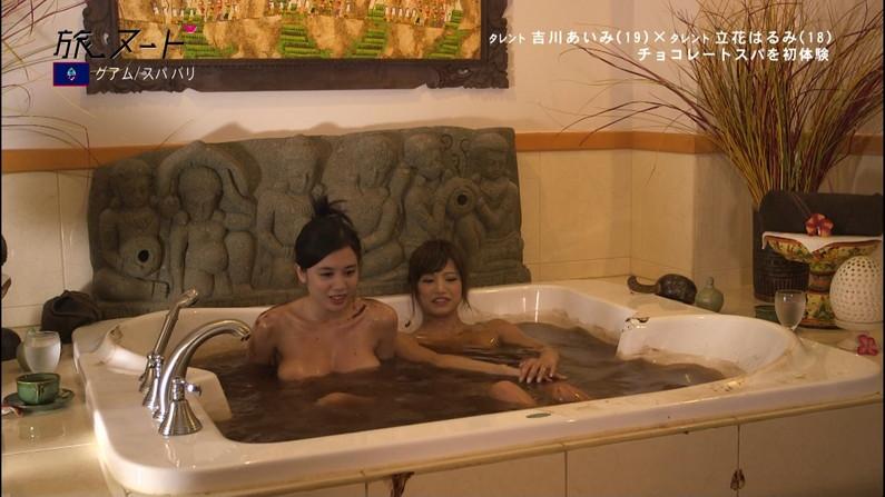 【放送事故画像】こんな女の子と俺も温泉入って温まりながらイチャイチャしたいww