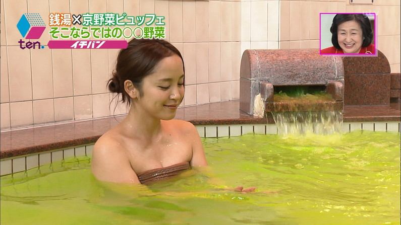 【放送事故画像】こんな女の子と俺も温泉入って温まりながらイチャイチャしたいww 17