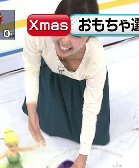 【放送事故画像】服着ててもオッパイ見せちゃう女子アナやアイドルww 14