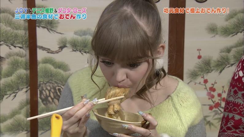 【擬似ふぇら画像】食レポと言う名目で茶の間にエロい顔をお届けする女達ww 14