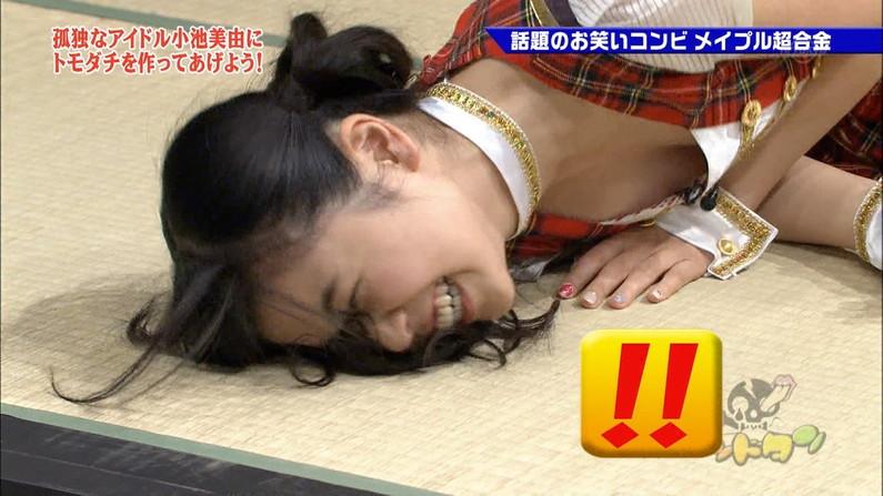 【放送事故画像】見せパンならぬ見せ乳か?テレビで胸ちらし過ぎでしょwww 12