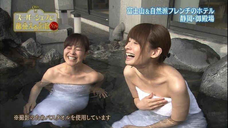 【放送事故画像】温泉レポやってても効能より絶対谷間の方が気になるよなwww 12