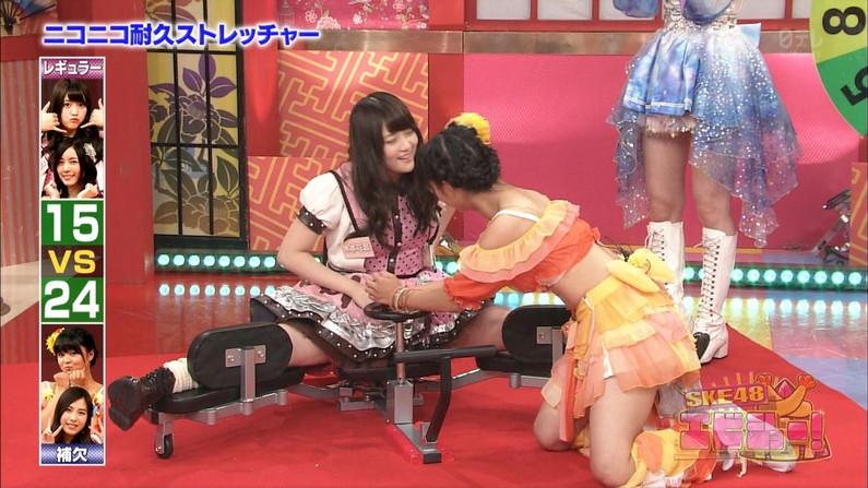 【放送事故画像】テレビで大開脚!その結果股間を激写される女達www 15