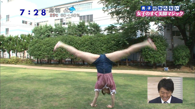 【放送事故画像】テレビで大開脚!その結果股間を激写される女達www 21