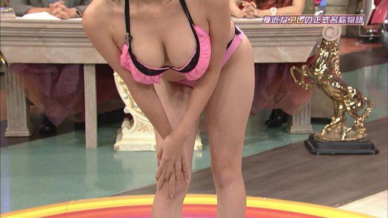 【放送事故画像】水着とかいう局部しか隠さないエロい姿でテレビに映る女達www 03