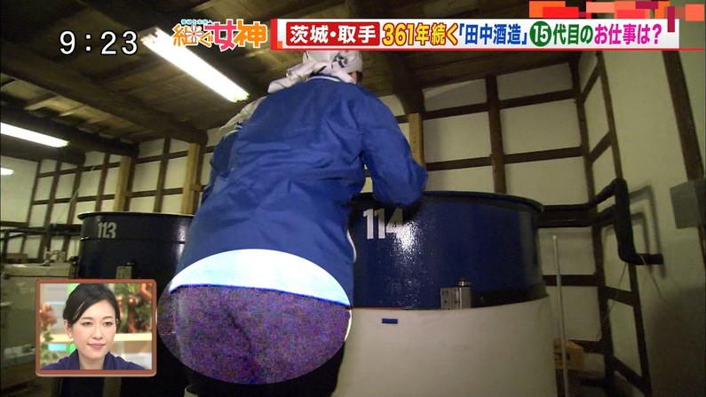 【放送事故画像】テレビでこんなエロいお尻ばっか映されたら勃起が収まらんくなるわww 13