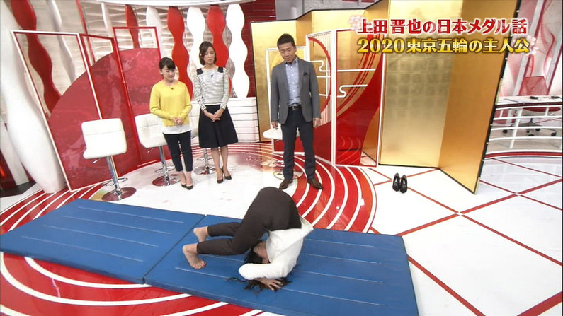 【放送事故画像】テレビでこんなエロいお尻ばっか映されたら勃起が収まらんくなるわww 18