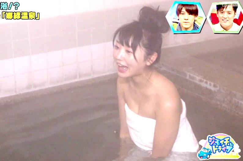 【放送事故画像】女子アナやアイドルがお風呂入ってたら必ずポロリ期待しちゃうよなww 14