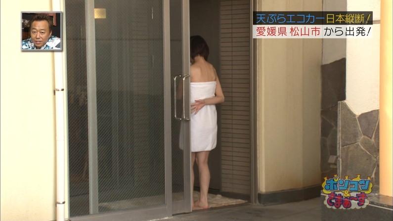 【放送事故画像】マンちら、ポロリに期待のかかる温泉レポ!何も無くても十分エロいけどww 05