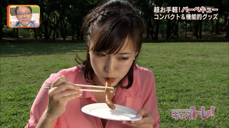 【擬似フェラ画像】食べ物を咥え込んでる女子アナ達の顔が卑猥で思わずオッキしたww 16