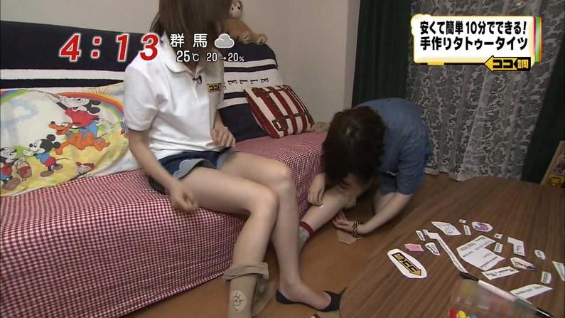 【放送事故画像】ムチムチ太股見てると段々ムラムラしてくるタレントの美脚!! 06