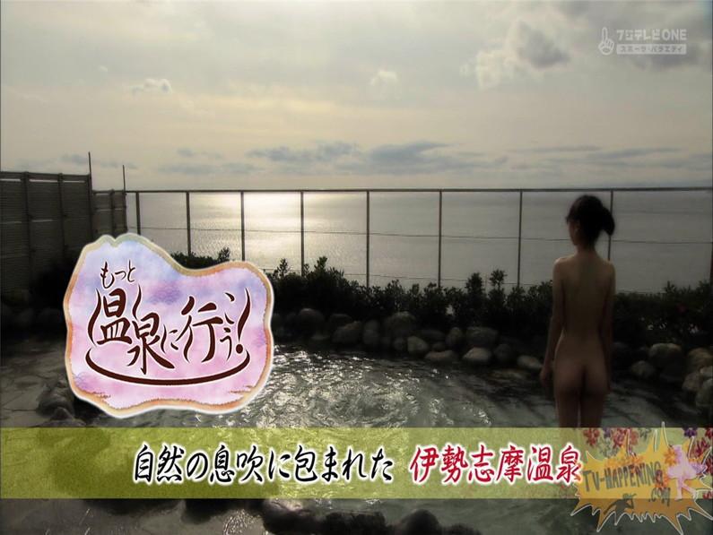 【お宝エロ画像】最近エロいと評判の「もっと温泉に行こう!」バスタオルなしで女の全裸入浴見放題ww