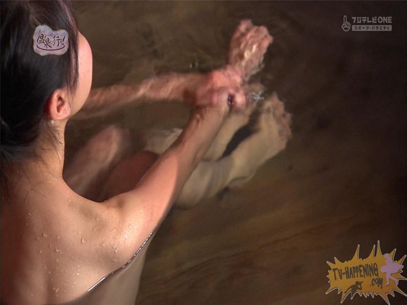 【お宝エロ画像】最近エロいと評判の「もっと温泉に行こう!」バスタオルなしで女の全裸入浴見放題ww 46