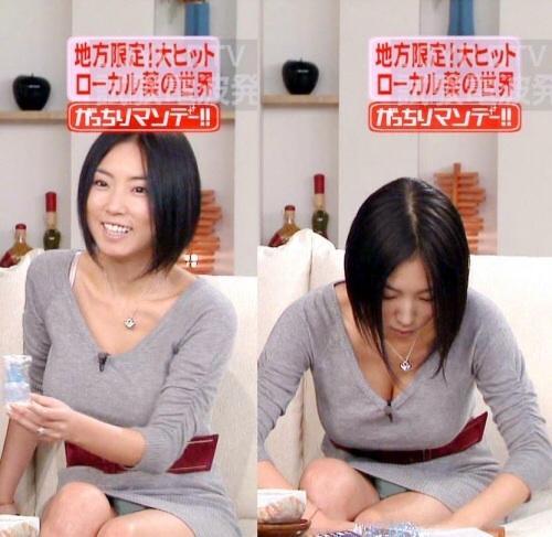【放送事故画像】何と、テレビ見てたらパンツの柄まではっきり見えてたw水玉パンツ可愛いww 20