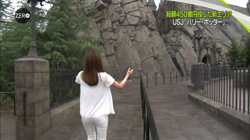 【放送事故画像】女子アナ達がぴったりしたズボン履きすぎてパン線浮きまくりwww 11