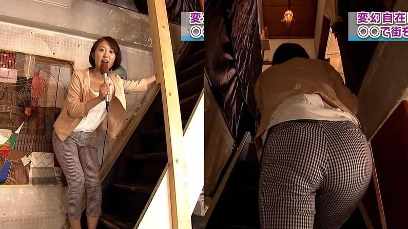 【放送事故画像】女子アナ達がぴったりしたズボン履きすぎてパン線浮きまくりwww 13