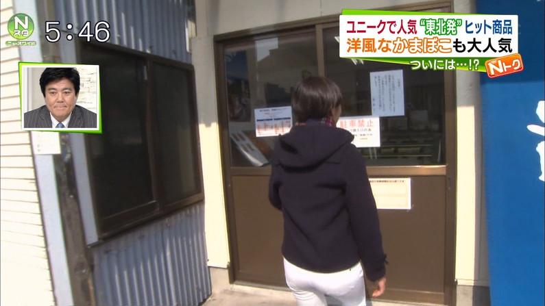 【放送事故画像】女子アナ達がぴったりしたズボン履きすぎてパン線浮きまくりwww 17